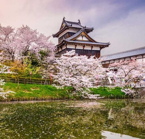 Castello di Koriyama in Giappone