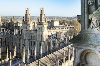 panorama dal college, Oxford - Gran Bretagna