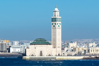 panorama e moschea, Casablanca - Marocco