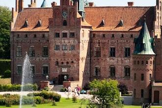 Panoramica del castello di Egescov, Danimarca - Europa