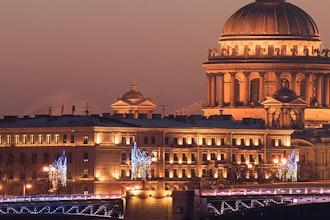 Panoramica San Pietroburgo Notte, Russia - Europa