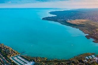 Panoramica del lago Balaton, Ungheria - Europa