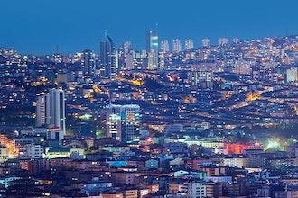Panoramica Ankara Notte, Turchia - Europa