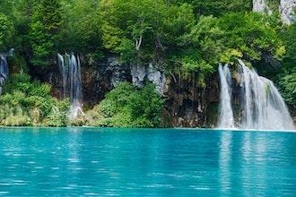 Panoramica dei laghi di Plitvice, Croazia - Europa
