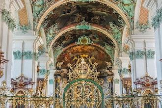 interno cattedrale, San Gallo - Svizzera