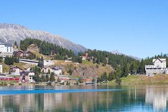 panorama, St Moritz - Svizzera