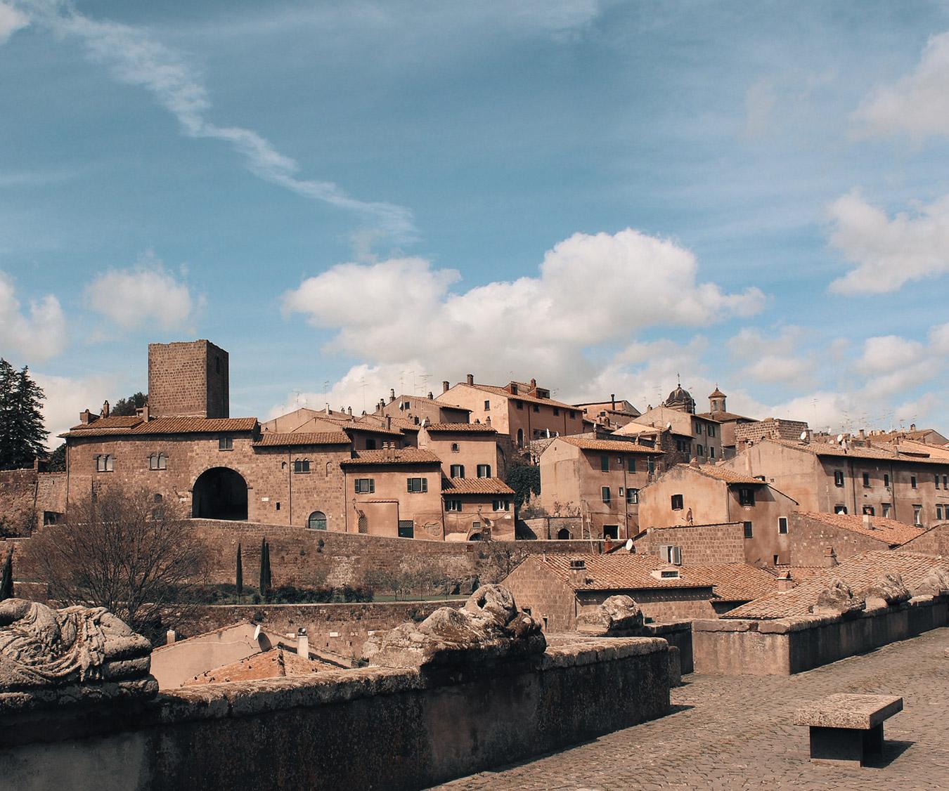 Veduta di Tuscania, Lazio - Italia