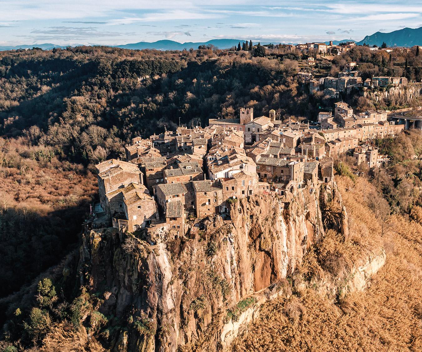 Panorama di Calcata, Lazio - Italia